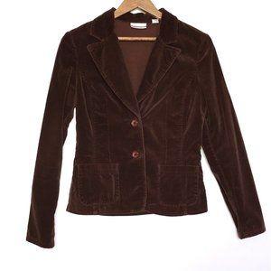 Halogen Brown Corduroy Blazer Jacket Size XS